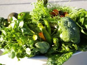 Зеленые овощи дарят здоровье