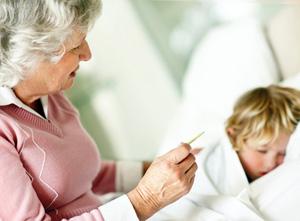 Как сбить высокую температуру у малыша?