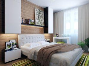 Декорирование интерьера небольшой спальни
