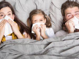 Грипп: как не заразиться при контакте с больным